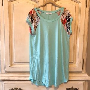Mint Floral Tunic